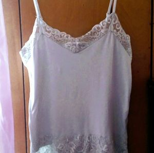 Pale grey lacy Cami